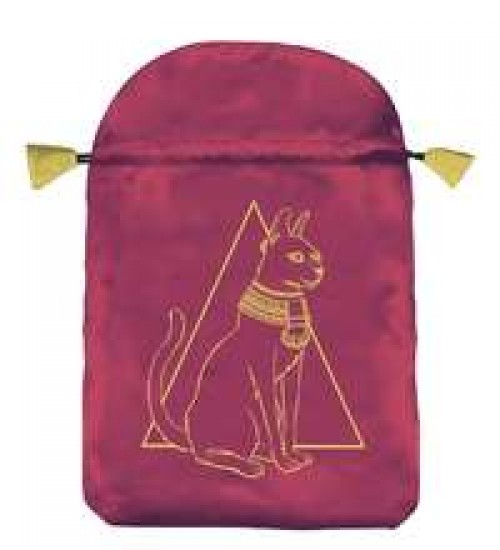 Egyptian Cat Satin Bag at All Wicca Store Magickal Supplies, Wiccan Supplies, Wicca Books, Pagan Jewelry, Altar Statues