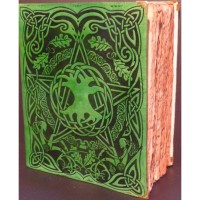 Tree of Life Leather Bound Journal with Antique Parchment