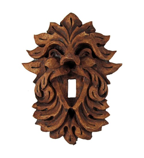 Laughing Leafman Green Man Switchplate at All Wicca Store Magickal Supplies, Wiccan Supplies, Wicca Books, Pagan Jewelry, Altar Statues