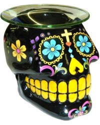 Black Sugar Skull Oil Burner All Wicca Store Magickal Supplies Wiccan Supplies, Wicca Books, Pagan Jewelry, Altar Statues