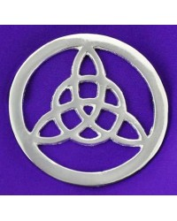 Triquetra Open Silver Altar Tile All Wicca Store Magickal Supplies Wiccan Supplies, Wicca Books, Pagan Jewelry, Altar Statues
