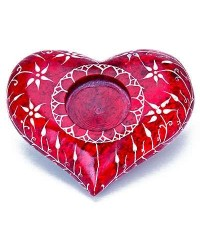 Red Heart Soapstone Candle Holder All Wicca Store Magickal Supplies Wiccan Supplies, Wicca Books, Pagan Jewelry, Altar Statues
