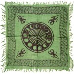 Celtic Earth Moon Phase Altar Cloth