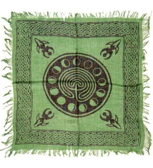 Celtic Earth Moon Phase Altar Cloth at All Wicca Store Magickal Supplies, Wiccan Supplies, Wicca Books, Pagan Jewelry, Altar Statues