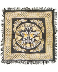 Goddess Pentacle Black and Gold Altar Cloth All Wicca Store Magickal Supplies Wiccan Supplies, Wicca Books, Pagan Jewelry, Altar Statues