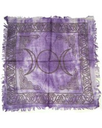 Purple Triple Moon Altar Cloth All Wicca Store Magickal Supplies Wiccan Supplies, Wicca Books, Pagan Jewelry, Altar Statues