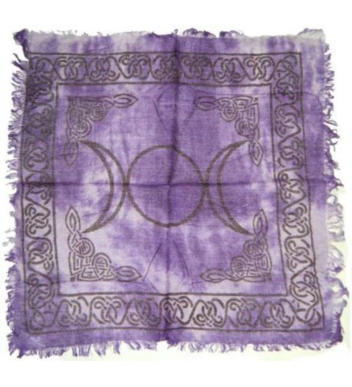 Purple Triple Moon Altar Cloth at All Wicca Store Magickal Supplies, Wiccan Supplies, Wicca Books, Pagan Jewelry, Altar Statues