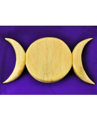 Triple Moon Wood Wall Plaque All Wicca Store Magickal Supplies Wiccan Supplies, Wicca Books, Pagan Jewelry, Altar Statues