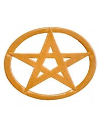 Pentacle Oval Wood Wall Plaque All Wicca Store Magickal Supplies Wiccan Supplies, Wicca Books, Pagan Jewelry, Altar Statues