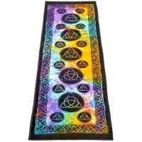 Triquetra Tie Dye Cotton Yoga Mat