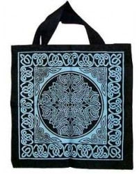 Celtic Knotwork Cotton Tote Bag All Wicca Store Magickal Supplies Wiccan Supplies, Wicca Books, Pagan Jewelry, Altar Statues
