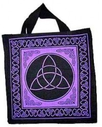 Triquetra Charmed Symbol Cotton Tote Bag All Wicca Store Magickal Supplies Wiccan Supplies, Wicca Books, Pagan Jewelry, Altar Statues