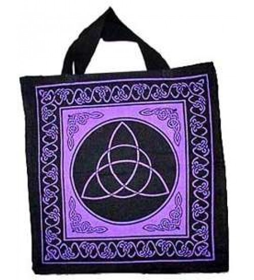 Triquetra Charmed Symbol Cotton Tote Bag at All Wicca Store Magickal Supplies, Wiccan Supplies, Wicca Books, Pagan Jewelry, Altar Statues