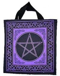 Pentagram Cotton Tote Bag All Wicca Store Magickal Supplies Wiccan Supplies, Wicca Books, Pagan Jewelry, Altar Statues