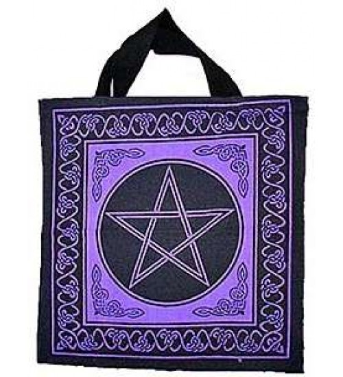 Pentagram Cotton Tote Bag at All Wicca Store Magickal Supplies, Wiccan Supplies, Wicca Books, Pagan Jewelry, Altar Statues