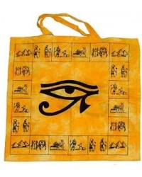 Egyptian Eye of Horus Cotton Tote Bag All Wicca Store Magickal Supplies Wiccan Supplies, Wicca Books, Pagan Jewelry, Altar Statues