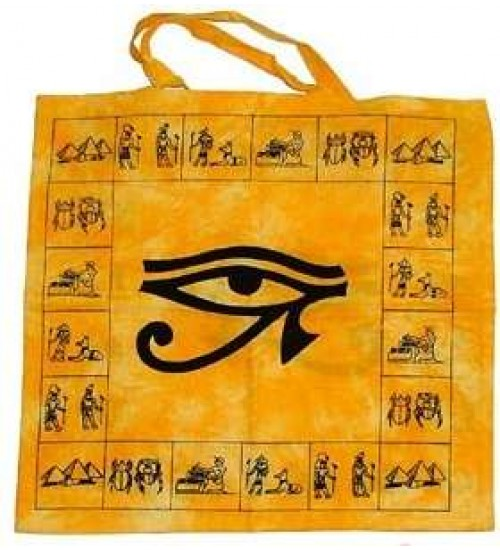 Egyptian Eye of Horus Cotton Tote Bag at All Wicca Store Magickal Supplies, Wiccan Supplies, Wicca Books, Pagan Jewelry, Altar Statues