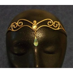 Two Crystal Bronze Circlet