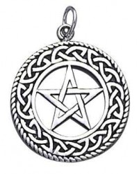 Celtic Border Pentacle Sterling Silver Pendant All Wicca Store Magickal Supplies Wiccan Supplies, Wicca Books, Pagan Jewelry, Altar Statues