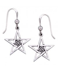 Spiral Pentacle Earrings All Wicca Store Magickal Supplies Wiccan Supplies, Wicca Books, Pagan Jewelry, Altar Statues