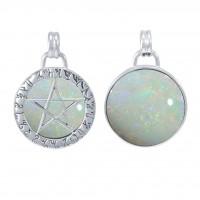 Hidden Pentacle Theban Opal Pentagram Pendant