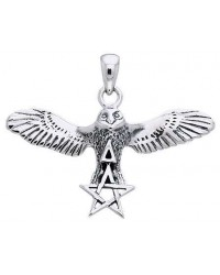Flying Owl Triangle and Pentagram Sterling Silver Pendant All Wicca Store Magickal Supplies Wiccan Supplies, Wicca Books, Pagan Jewelry, Altar Statues