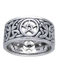 Pentacle Open Knotwork Sterling Silver Ring All Wicca Store Magickal Supplies Wiccan Supplies, Wicca Books, Pagan Jewelry, Altar Statues