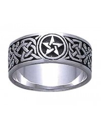 Celtic Knot Pentacle Band Ring All Wicca Store Magickal Supplies Wiccan Supplies, Wicca Books, Pagan Jewelry, Altar Statues