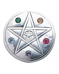 Pentacle Disc Sterling Silver Pendant All Wicca Store Magickal Supplies Wiccan Supplies, Wicca Books, Pagan Jewelry, Altar Statues