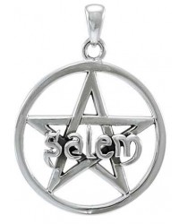 Salem Pentagram Sterling Silver Pendant All Wicca Store Magickal Supplies Wiccan Supplies, Wicca Books, Pagan Jewelry, Altar Statues