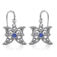 Sapphire Blue Moon Silver Earrings
