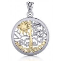 Tree of Life Sun and Moon Pendant