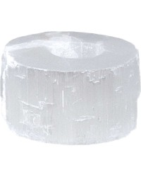 Selenite Flat Tea Light Candle Holder All Wicca Store Magickal Supplies Wiccan Supplies, Wicca Books, Pagan Jewelry, Altar Statues
