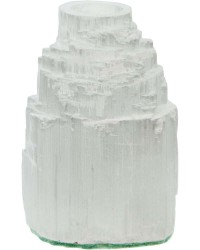 Selenite Iceberg Tea Light Candle Holder All Wicca Store Magickal Supplies Wiccan Supplies, Wicca Books, Pagan Jewelry, Altar Statues