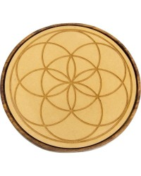 Seed of Life Wood Crystal Grid All Wicca Store Magickal Supplies Wiccan Supplies, Wicca Books, Pagan Jewelry, Altar Statues