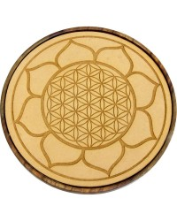 Lotus Flower of Life Wood Crystal Grid All Wicca Store Magickal Supplies Wiccan Supplies, Wicca Books, Pagan Jewelry, Altar Statues