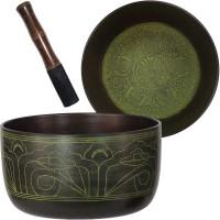 Green Flat Side 6 Inch Singing Bowl