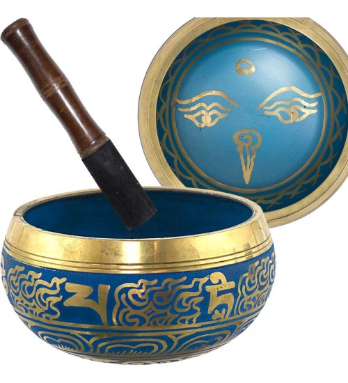 Eye of the Budha 6.5 Inch Blue Singing Bowl at All Wicca Store Magickal Supplies, Wiccan Supplies, Wicca Books, Pagan Jewelry, Altar Statues