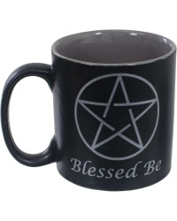 Blessed Be Pentacle Ceramic Mug All Wicca Magickal Supplies Wiccan Supplies, Wicca Books, Pagan Jewelry, Altar Statues