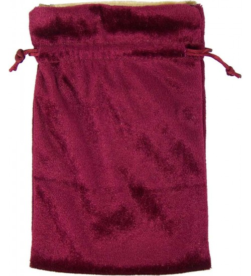 Burgundy Velvet Lined Pouch at All Wicca Store Magickal Supplies, Wiccan Supplies, Wicca Books, Pagan Jewelry, Altar Statues