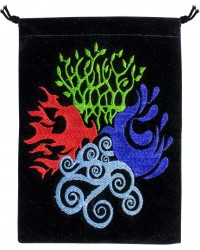 4 Elements Embroidered Velvet Pouch All Wicca Store Magickal Supplies Wiccan Supplies, Wicca Books, Pagan Jewelry, Altar Statues