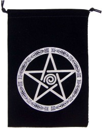 Pentacle Embroidered Velvet Pouch All Wicca Store Magickal Supplies Wiccan Supplies, Wicca Books, Pagan Jewelry, Altar Statues