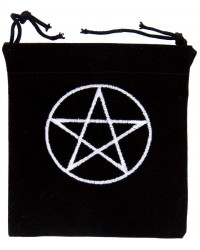 Pentacle Embroidered Small Velvet Pouch All Wicca Store Magickal Supplies Wiccan Supplies, Wicca Books, Pagan Jewelry, Altar Statues