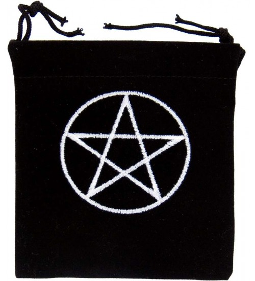 Pentacle Embroidered Small Velvet Pouch at All Wicca Store Magickal Supplies, Wiccan Supplies, Wicca Books, Pagan Jewelry, Altar Statues