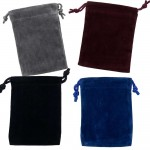 Velvet Small Pouch Assortment Pack of 12