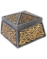 Celtic Knot Lidded Trinket Box All Wicca Store Magickal Supplies Wiccan Supplies, Wicca Books, Pagan Jewelry, Altar Statues
