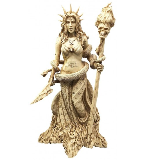 Hecate Greek Goddess of the Underworld Resin Statue at All Wicca Store Magickal Supplies, Wiccan Supplies, Wicca Books, Pagan Jewelry, Altar Statues