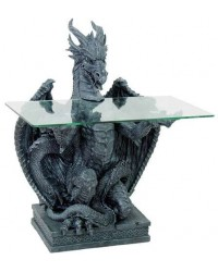 Dragon Glass Top Side Table All Wicca Store Magickal Supplies Wiccan Supplies, Wicca Books, Pagan Jewelry, Altar Statues