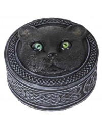 Black Cat Trinket Box with Rolling Eyes All Wicca Store Magickal Supplies Wiccan Supplies, Wicca Books, Pagan Jewelry, Altar Statues