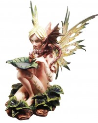 Forest Fairy with Baby Dragon Statue All Wicca Store Magickal Supplies Wiccan Supplies, Wicca Books, Pagan Jewelry, Altar Statues